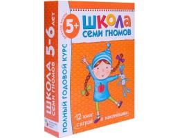 6-й год обучения Занятия с детьми 5-6 лет. Полный годовой курс (12 книг с картонными вкладками) (ор