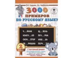 3000 примеров по русскому языку. 2 класс. Крупный шрифт